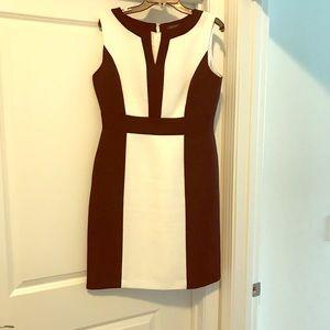 Sleeveless color block (black/white) dress